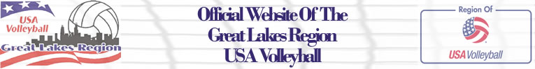 Great Lakes Region USA Volleyball - Banner